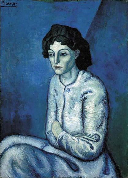 pablo picasso blue period femme